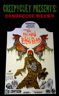Grindhouse theater Return of the Living Dead by creepycult on Etsy, $15.00
