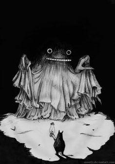 Moomin with lamp - by Tove Jansson Tove Jansson, Art And Illustration, Angst Im Dunkeln, Arte Indie, Dark Art, Art Inspo, Illustrators, Dragons, Art Drawings