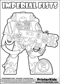 coloring page that can be used as a printout or colored online with a imperial fists