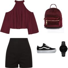 Untitled #46 by saraiar on Polyvore featuring moda, W118 by Walter Baker, La Perla, Vans and CLUSE
