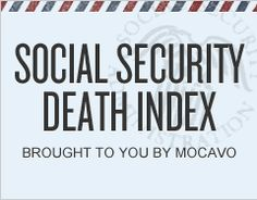 Social Security Death Index *NOTE: It is recommended that patrons access this link through Genealogy Search, Family Genealogy, Genealogy Websites, Free Genealogy, Genealogy Forms, Public Records, Family Tree Research, Family Roots