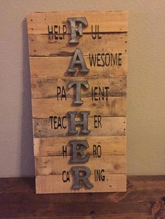 outdoordecor holidaydecor advertising beachdecor wooddecor fathers holiday pallet father sign wall day Fathers sign fathers day sign wall sign pallet sign holiday sign advertising FathersYou can find Advertising and more on our website Diy Father's Day Gifts, Father's Day Diy, Mom Gifts, Baby Gifts, Wood Crafts, Fun Crafts, Diy Wood, Daddy Day, Fathers Day Crafts