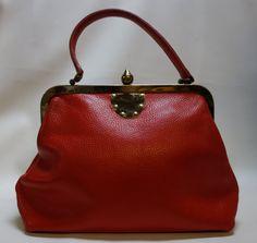 60s Roger Van S. BloodOrange Handbag Purse.