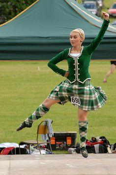 Kilt with green jacket Scottish Highland Games, Sword Dance, Trip The Light Fantastic, Viking Culture, Tartan Dress, Socks And Heels, Irish Celtic, Dance Art, Kilts