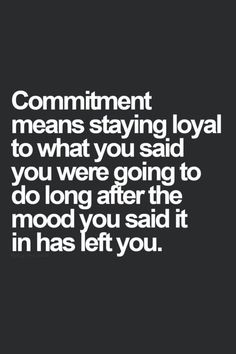 Definition Of Commitment In A Relationship