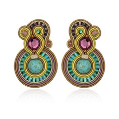 Minerva Earrings, Small (Clip-On) ($225) found on Polyvore
