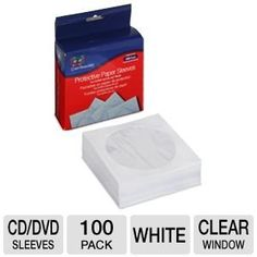 Color Research Protective Paper Sleeves by Color Research. $7.99. Color Research Protective Paper Sleeves - 100 Pack, For CD/DVD and Blu-ray Media, Clear Window
