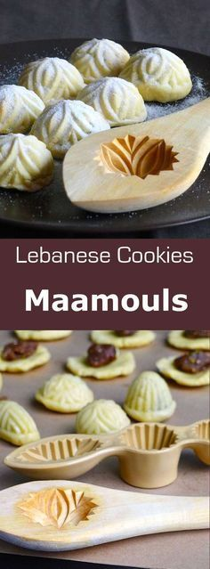 Maamouls are typical Lebanese shortbreads, usually filled with dates, but what .Maamouls are typical Lebanese shortbreads that are usually filled with dates, but can also be filled with pistachios, almonds or walnuts. Arabic Dessert, Arabic Sweets, Arabic Food, Eid Sweets, Middle East Food, Middle Eastern Desserts, Lebanese Desserts, Lebanese Recipes, Ramadan Recipes