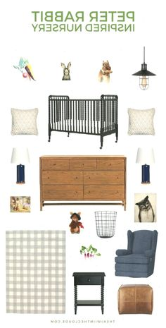Create a charming Peter Rabbit nursery that's vintage with just enough modern flair to make it the perfect blend of styles. It's a baby room that any Beatrix Potter fan will love! Baby Girl Nursey, Baby Girl Nursery Themes, Nursery Ideas, Baby Room, Babies Nursery, Peter Rabbit Nursery, Improve Yourself, Make It Yourself, Babys