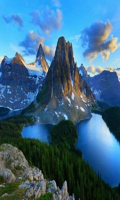 Sweeping view of the Patagonia region located at the southern end of South America, shared by Argentina and Chile.