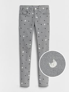 73a8d466d23 Gap Girls Superdenim Cat Print Super Skinny With Fantastiflex Grey Wash  Childrens Fancy Dress, Super