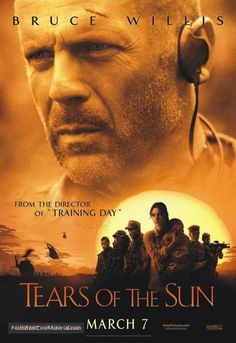 Tears of the Sun teljes film online # Sun Movies, Sci Fi Movies, Great Movies, Movies To Watch, Netflix Movies, Cole Hauser, Action Movie Poster, Original Movie Posters, Bruce Willis