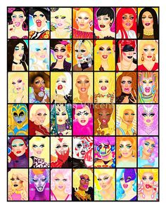 A collection of my art from RuPaul's Drag Race. • Buy this artwork on apparel, stickers, phone cases, and more.
