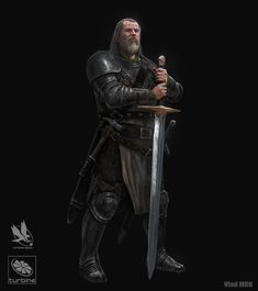 m Fighter Hvy Armor Greatsword WarHammer Underdark Traveler by VladMRK Fantasy Character Design, Character Concept, Character Inspiration, Character Art, Fantasy Armor, Medieval Fantasy, Dnd Characters, Fantasy Characters, Dnd Paladin