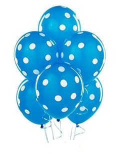Robins Egg Blue with White Polka Dots Latex Balloons 6 -- Check out the image by visiting the link.  This link participates in Amazon Service LLC Associates Program, a program designed to let participant earn advertising fees by advertising and linking to Amazon.com.