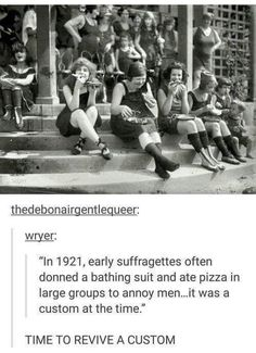 This is protesting in its finest form. Tumblr Funny, Funny Memes, Angst Quotes, Louise Brooks, Youre My Person, Badass Women, Patriarchy, Faith In Humanity, Women In History