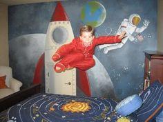 Astronaut mural.  Shakti Space Designs