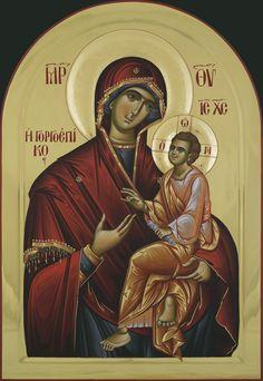 Mother of God Gorgoypekoosa cm Byzantine Icons, Orthodox Christianity, Blessed Virgin Mary, Orthodox Icons, Catholic, Prayers, God, Romania, Decoupage