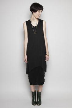 Totokaelo - Raquel Allegra - Shredded Sleeveless Dress - Black