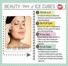BEAUTY USES OF ICE CUBES