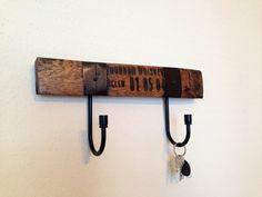 Bourbon Whiskey Barrel Reclaimed Wood Hanger by RaccoonWoodworks, $44.99