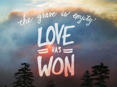Love has won More at http://ibibleverses.com