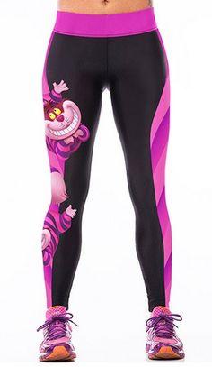 Yoga High-Waist Purple Fox Leggings
