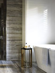 Beautiful bathroom - I really want that side table!