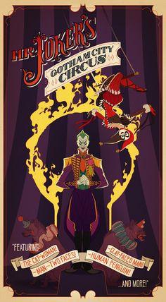The Joker's Gotham City Circus by shoomlah