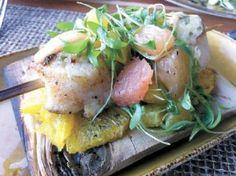 plank-seared sea scallops w/ citrus salad