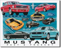 Ford Tin Sign Mustang Chronology