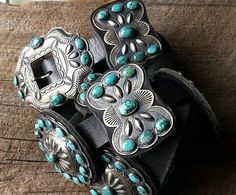 Spectacular-Museum-Quality-Kirk-Smith-Navajo-Collectors-Turquoise-Concho-Belt