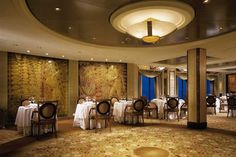 Celebrity Summit's Normandie Restaruant - The art deco wall panels are from the…
