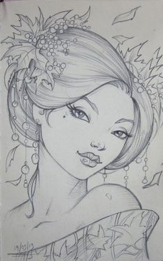Pin by cristina b. on coloring pages (portraits) for grown u Colouring Pics, Coloring Pages To Print, Coloring Book Pages, Pencil Art Drawings, Art Drawings Sketches, Drawing Faces, Fabric Painting, Face Art, Doodle Art