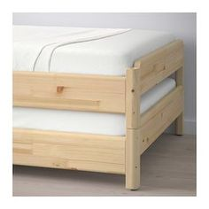 IKEA - UTÅKER, Stackable bed with 2 mattresses, pine / Moshult closes,, You can e . - Ikea DIY - The best IKEA hacks all in one place Cama Murphy, Murphy Bed, Murphy-bett Ikea, Diy Furniture, Furniture Design, Moving Furniture, Spare Bed, Spare Room, Bed Slats