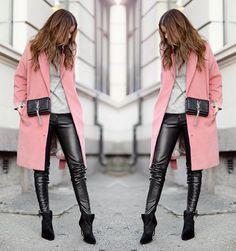 nettenestea-outfit-antrekk-januar-2015-rosa-kåpe-vivikes-grå-genser-gestuz-skinnbukse-hm-trend-ysl-crossover-bag-veske-sølv-lenke-annette-haga-blogg.jpg