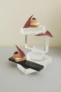 Bauhaus inspires food display / styling