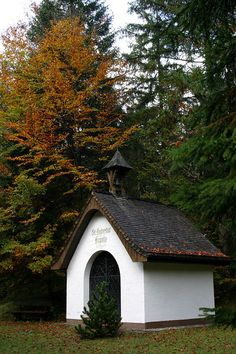 Roadside Chapel outside Garmisch These were all over Bavaria. It was a warming sight as we drove the maxi van by.