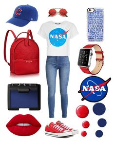 """""""NASA """" by shakeitoff924 on Polyvore featuring Converse, '47 Brand, Casetify, Lime Crime, Topshop and RGB Cosmetics"""