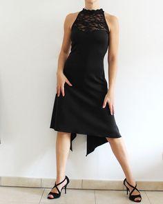 Black Lace back Dance dress for Argentine by CrinolinAtelier