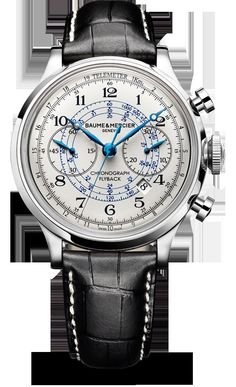 Capeland - 10006. Men's Watch Chronograph. But with brown leather straps