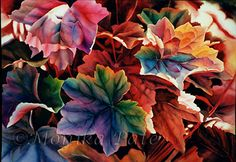 Fall Foliage by Monika Pate Watercolor ~ 19 x 28