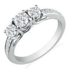 three stone wedding ring  ~love this one!