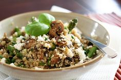 Quinoa Mushrooms and Asparagus-4 by Sonia! The Healthy Foodie, via Flickr