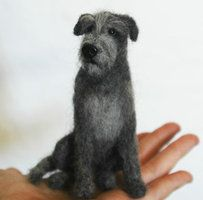 Needle Felted Irish Wolfhound by amber-rose-creations