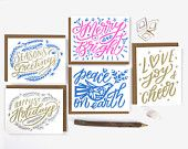 Hand Lettered Holiday Card Survival Kit