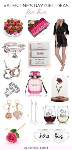 Valentine& Day Gift Ideas For Her // Looking for the right Valentine& Day gift ideas for your girlfriend, wife, or fiancée but you& not sure what to get her? Here are 14 sweet and romantic gift ideas that she& love receiving! Birthday Presents For Girlfriend, Valentines Day Gifts For Her, Gifts For Your Girlfriend, Boyfriend Gifts, Boyfriend Letters, Christmas Gifts For Girlfriend, Boyfriend Birthday, Christmas Gift Guide, Holiday Gifts