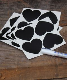 Look what I found on #zulily! Heart Chalkboard Labels - Set of 100 #zulilyfinds