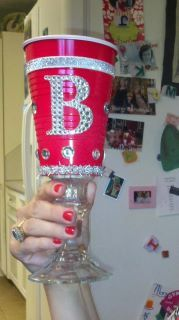 Blinged Out Red Solo Cup for my sister's 40th birthday!