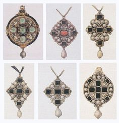 Pendant designs by Hans Holbein, c. 1532–43.